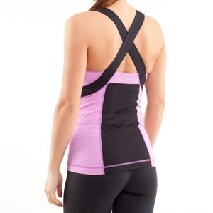 Lulu Push Your Limits Tank Heathered Ultra Violet